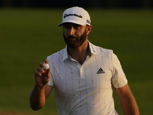 Dustin Johnson is on course for a second major title in the Masters (Chris Carlson/AP)