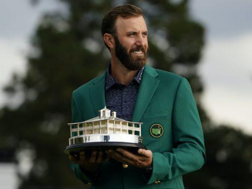 Masters champion Dustin Johnson won one of golf's three majors in 2020 (AP Photo/Matt Slocum)