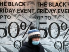 A Black Friday advert in a shop window in Glasgow (Andrew Milligan/PA)