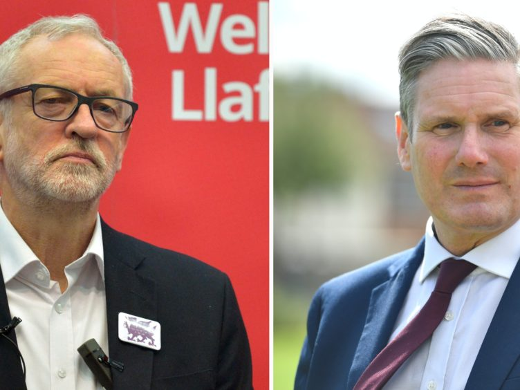 Sir Keir Starmer, right, said the readmission to Labour of Jeremy Corbyn, left, will not 'prevent us from doing the vital work of tackling anti-Semitism' (PA)