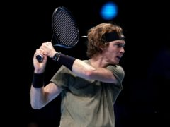 Andrey Rublev powered his way to victory over Dominic Thiem (John Walton/PA)