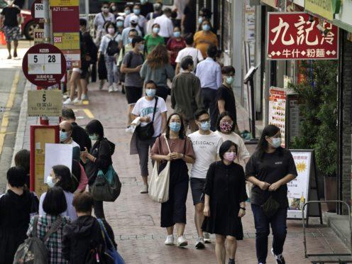 People wearing masks in Hong Kong (AP/Kin Cheung, File)