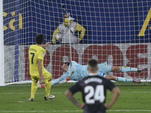 Gerard Moreno's late penalty helped Villarreal maintain their unbeaten home record (Alberto Saiz/AP)