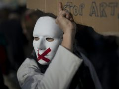 A protester in Marseille (AP)