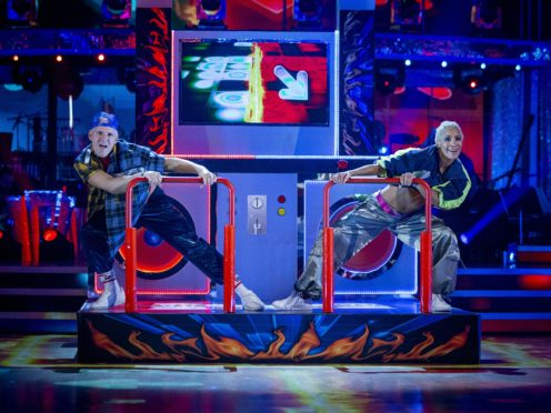 Jamie Laing and Karen Hauer on Strictly (Guy Levy/BBC)