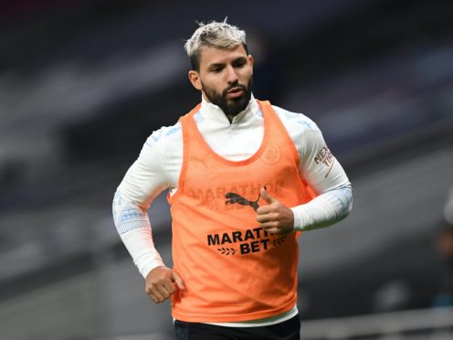 Sergio Aguero has been affected by the death of former father-in-law Diego Maradona (Neil Hall/PA)