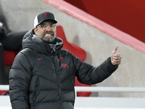 Liverpool manager Jurgen Klopp's side set a new club record with victory over Leicester (Peter Powell/PA)