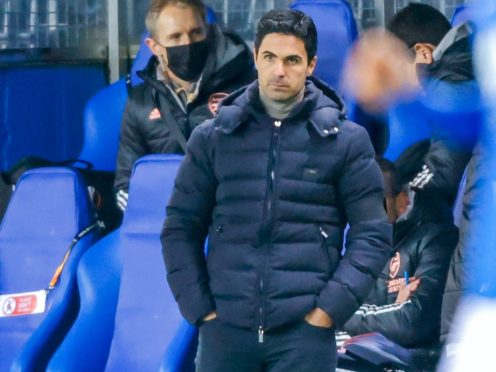 Mikel Arteta saw his side secure Europa League progression with victory over Molde on Thursday. (Svein Ove Ekornesvag/AP)
