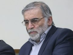 Iran's president, Hassan Rouhani, has vowed to exact revenge over the killing of scientist Mohsen Fakhrizadeh (Office of the Iranian Supreme Leader/AP)