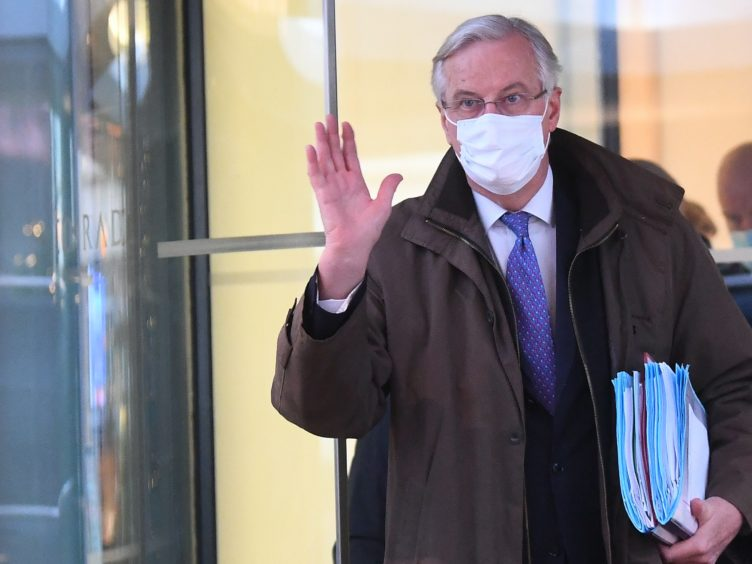 EU's chief negotiator Michel Barnier in Westminster (Victoria Jones/PA)