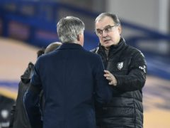 Marcelo Bielsa (right) got the better of Carlo Ancelotti at Goodison Park (Peter Powell/PA)