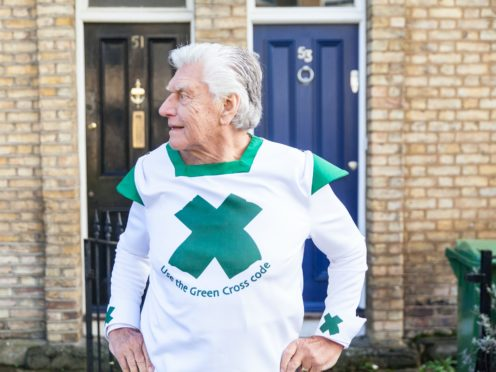 Dave Prowse reprised his role as the Green Cross Code Man in 2014 (Nigel Davies/More Than/PA)