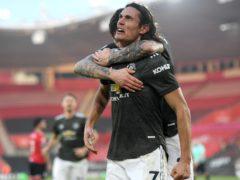 Edinson Cavani (right) struck twice as United sealed a dramatic comeback (Mike Hewitt/PA)