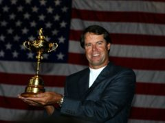 On this day in 2006, Paul Azinger was named United States Ryder Cup captain and would go on to lift the trophy (Nick Potts/PA)