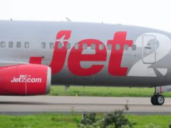 Holiday and airline group Jet2 has slumped to a first half loss (PA)