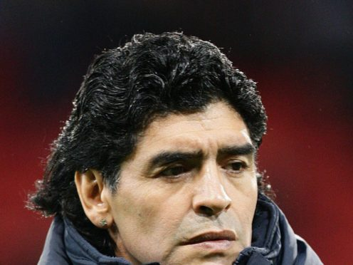 Diego Maradona was one of the world's greatest ever footballers (Martin RIckett/PA).