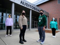 Students from Westwood High School (Charles Krupa/AP)