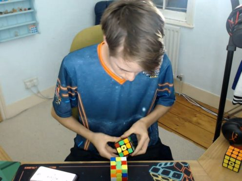 Chris Mills competed online from home (Red Bull Rubik's Cube World Cup/PA)