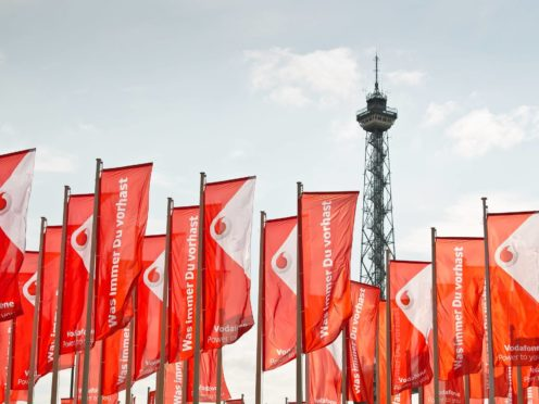 Vodafone is to float its European mast business Vantage Towers early in 2021 (Vodafone/PA)