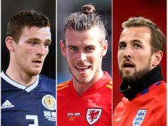 Andy Robertson, Gareth Bale and Harry Kane (David Davies/Ian Rutherford/Daniel Leal Olivas/PA)