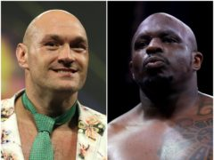 Tyson Fury and Dillian Whyte (PA)