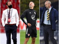 There were contrasting fortunes for England boss Gareth Southgate, Wales manager Ryan Giggs and Scotland's Steve Clarke