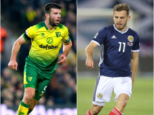 Grant Hanley, left, and Ryan Fraser have been ruled out of Scotland's Euro 2020 play-off with Serbia (Joe Giddens/Adam Davy/PA)