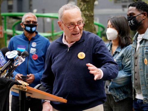 New York Senator Chuck Schumer speaks at a news conference (Seth Wenig/AP/PA)