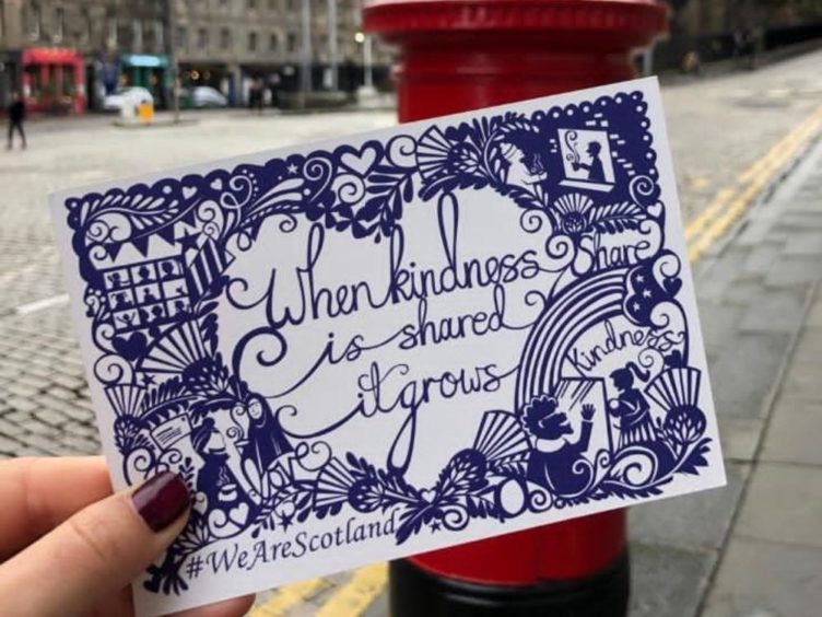 The postcard was designed especially by Edinburgh-based artist Emily Hogarth (Scottish Government/PA)