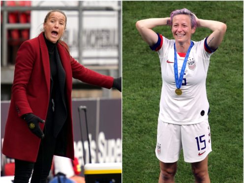 Manchester United Women head coach Casey Stoney has hit back at United States star Megan Rapinoe (PA)
