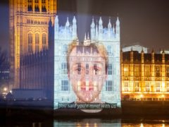 The videos were projected on to the Palace of Westminster (Led by Donkeys/PA)