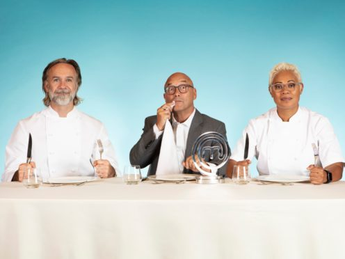 Marcus Wareing, Gregg Wallace and Monica Galetti (BBC/PA)