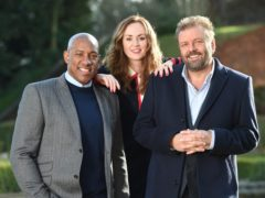 Dion Dublin, Martel Maxwell and Martin Roberts (BBC/Homes Under The Hammer/PA)