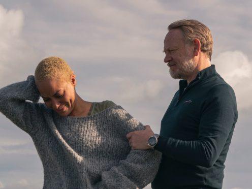 Cush Jumbo and Jared Harris star in BritBox original drama The Beast Must Die (Gareth Gatrell/BritBox/PA)