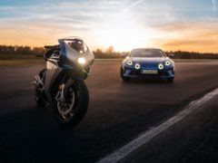 The new motorcycle shares many styling touches with the A110