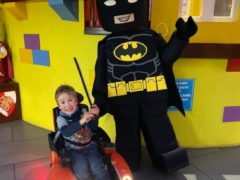 Sebby Brett, 5, whose mother is calling on Legoland to change its disabled policy after her son was made to get up out of his wheelchair twice and walk, before he was allowed on the rides (Handout/PA)