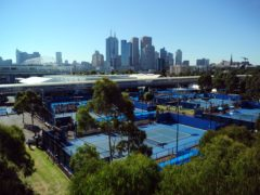 The tennis world is waiting to find out when it will be allowed back at Melbourne Park (PA)
