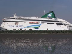 Irish Ferries has banned all travel except for essential travel and freight for 48 hours (Chris Bacon/PA)