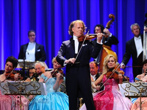 Andre Rieu at the 2012 Classic Brit Awards at the Royal Albert Hall (Ian West/PA)