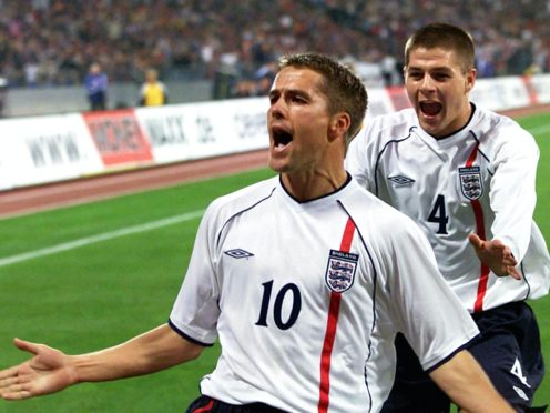 Michael Owen's 2001 included scoring a hat-trick in England's 5-1 win against Germany (Gareth Copley/PA).