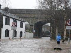 Flooding in Mytholmroyd in Calderdale, West Yorkshire, on Boxing Day 2015 (PA)