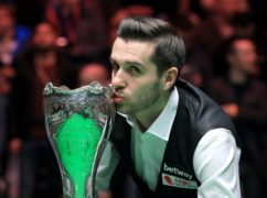 Mark Selby celebrates his UK Championship win (Mike Egerton/PA)