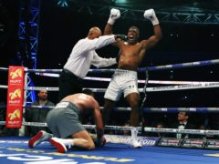Anthony Joshua beat Wladimir Klitschko by technical knock out to win in front of 90,000 spectators at Wembley Stadium in 2017 (Nick Potts/PA)