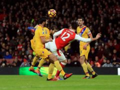 Olivier Giroud scored the opener against Crystal Palace (Adam Davy/PA)