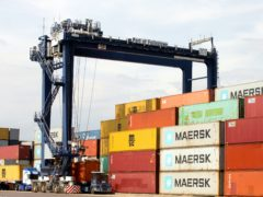 The logistics industry has urged the Government to help clear congestion at container ports (Steve Parsons/PA)