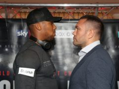 Anthony Joshua and Kubrat Pulev came to blows in a heated weigh-in at Matchroom's bio-secure bubble in London (Nick Potts/PA)