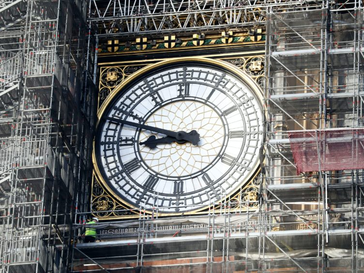 Big Ben's bongs will ring in the new year (Andrew Matthews/PA)