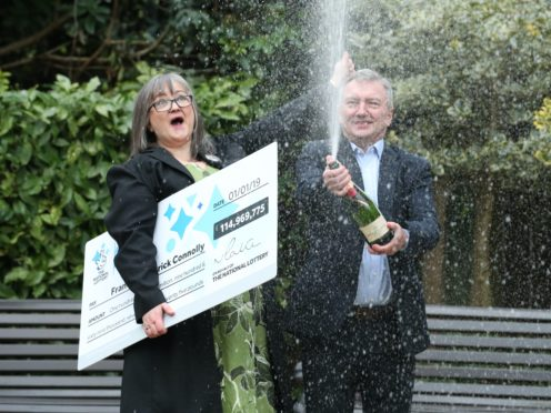 Frances and Patrick Connolly have given half of their £115 million Lottery jackpot away (Liam McBurney/PA)