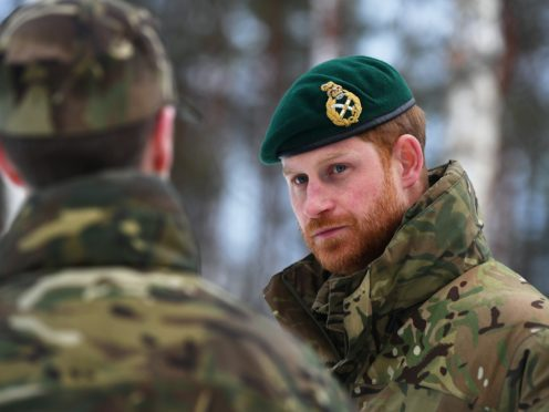 The Duke of Sussex described the move as an amazing step forward for the British military (Victoria Jones/PA)