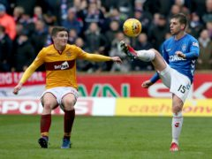 Jake Hastie, left, delivered his best display since returning to Motherwell against St Mirren (Jane Barlow/PA)